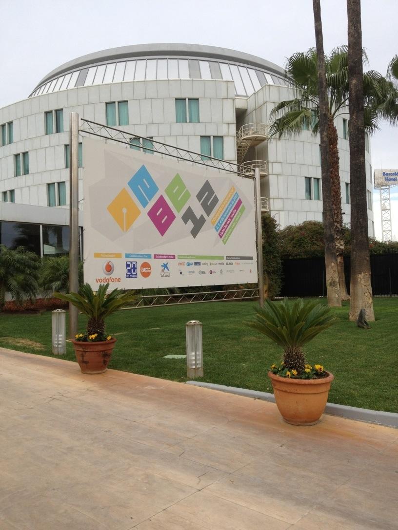 Entrada al congreso #EBE12 en Sevilla
