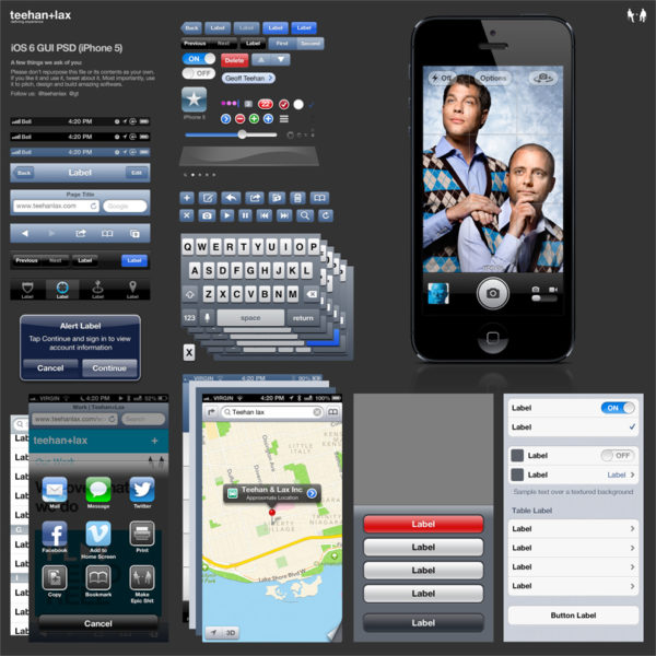 Plantilla Phostoshop de iOS6 en un iPhone5