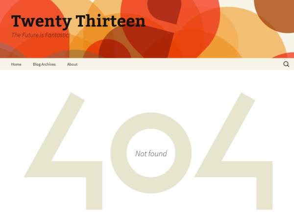 Twenty Thirteen: Página error 404