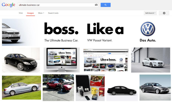 Volkswagen Ultimate Business Car - Orden incorrecto