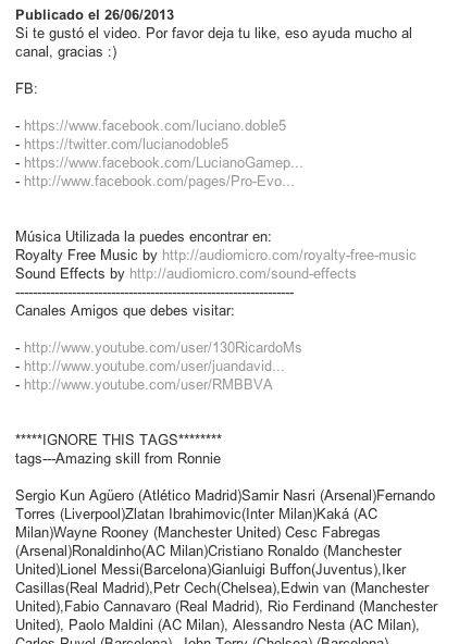 Spam en YouTube