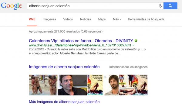 Búsqueda en Google por Alberto Sanjuan