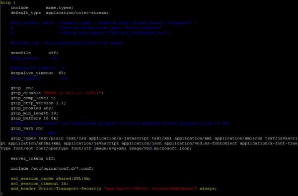 Habilitar caché HTTP2 en NGINX