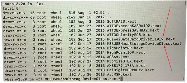 Archivos .kext para eliminar si no arranca el MAC