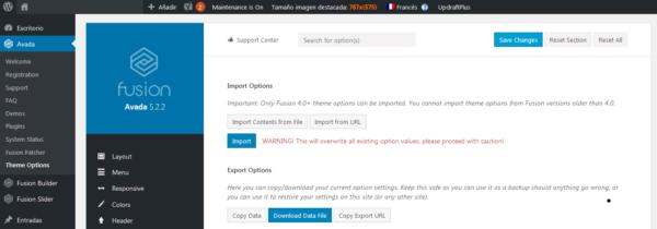 Cómo configurar el mismo diseño para todos los idiomas en Avada con WPML