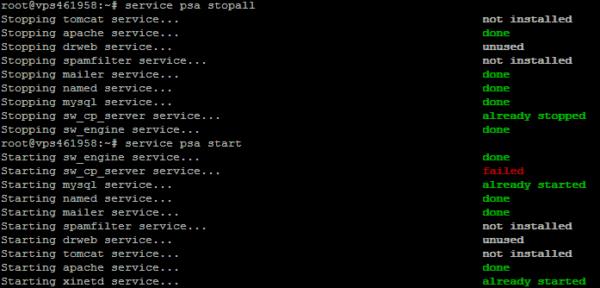 He actualizado mi VPS a Plesk Onyx 17.5.3 y no arranca (OVH y GIGAS)