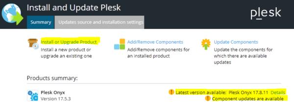 Nueva versión de PLESK disponible
