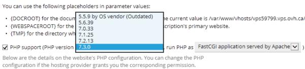 Asignar PHP 7.3 a una web en PLESK
