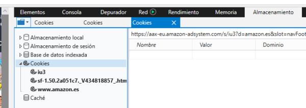 Eliminar cookies en Microsoft Edge
