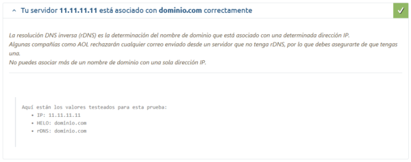 Configuración envío de emails en el servidor de correo de Plesk correcta