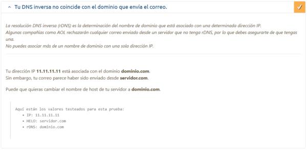 Error configuración envío de emails en el servidor de correo de Plesk